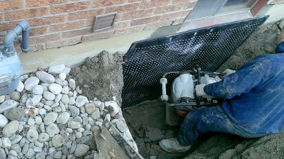 Crack repairs with the use of an elastomeric rubber coating, which is critical to successful basement waterproofing.